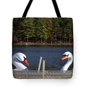 Swan Boats Tote Bag by Joanna Madloch