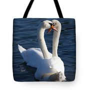 Swan Courtship  Tote Bag
