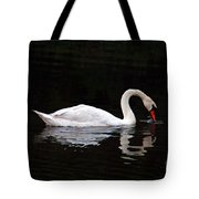 Swan Drinking Tote Bag