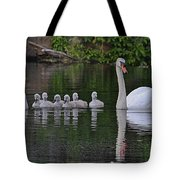 Swan Family Portrait Tote Bag