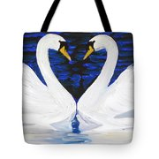 Swan Heart Tote Bag