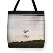 Swan In Flight Tote Bag