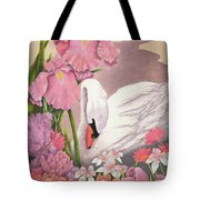 Swan In Pink Tote Bag