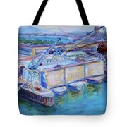 Swan Island Poetry - Large Original Contempory Impressionist Painting Tote Bag