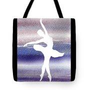 Swan Lake Ballerina Silhouette Tote Bag