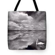 Swan Lake Explorations B W Tote Bag