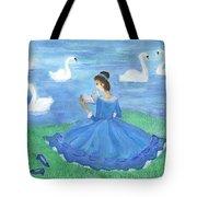 Swan Lake Reader Tote Bag