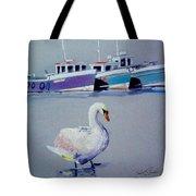 Swan Lake With Pleasure Boats Tote Bag