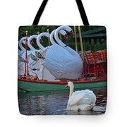 Swan Meeting Up With Some Friends Tote Bag