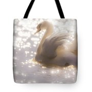 Swan Of The Glittery Early Evening Tote Bag