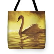 Swan On Gold Tote Bag