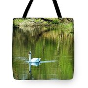 Swan On The Cong River Cong Ireland Tote Bag