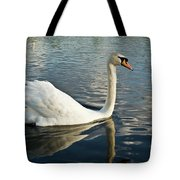 Swan On The Run Tote Bag
