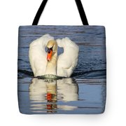 Swan Reflection Tote Bag