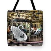 Swan Seat At The Carousel  Tote Bag