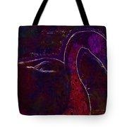Swan Silhouette Drop Of Water  Tote Bag