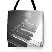 Swan Song Music Piano Keys Black And White Tote Bag
