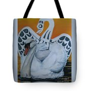 Swan Totem Tote Bag