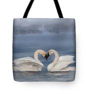 Swan Valentine - Blue Tote Bag