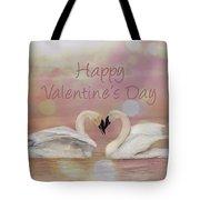 Swan Valentine Tote Bag