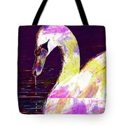 Swan White Water Bird White Swan  Tote Bag