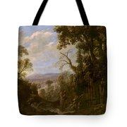 Swanevelt, Herman Van Woerden, 1603 - Paris, 1655 Landscape With Hermit Bound In Chains 1634 - 1639. Tote Bag