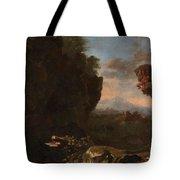 Swanevelt, Herman Van Woerden, 1603 - Paris, 1655 Landscape With Saint Benedict Of Nursia 1634 - 163 Tote Bag