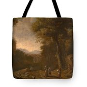 Swanevelt, Herman Van Woerden, 1603 - Paris, 1655 Landscape With Travellers And A Shepherd 1635 - 16 Tote Bag