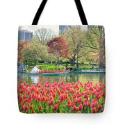 Swans And Tulips 2 Tote Bag