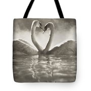 Swans In Lake Tote Bag