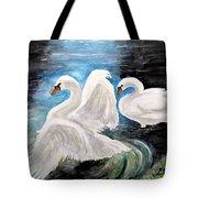 Swans In Love Tote Bag