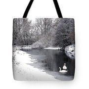 Swans In The Snow Tote Bag