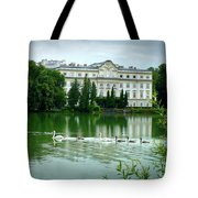 Swans On Austrian Lake Tote Bag