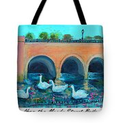 Swans On The Charles River Tote Bag