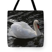 Swans Reflection Tote Bag
