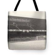 Swansea - Vetch Field - West Terrace 1 - Bw - 1960s Tote Bag