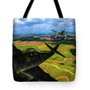 Swatting Down A Swallow - Oil Tote Bag