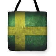 Sweden Distressed Flag Dehner Tote Bag