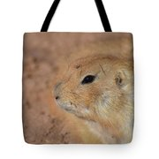 Sweet Face Of A Prairie Dog Up Close And Personal Tote Bag