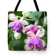 Sweet Fuchsia Flowers Tote Bag