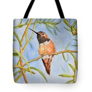 Sweet Hummingbird Tote Bag