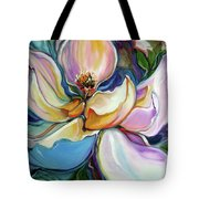 Sweet Magnoli Floral Abstract Tote Bag