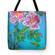 Sweet Pea Flowers On A Vine Tote Bag