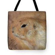 Sweet Profile Of A Prairie Dog Playing In Dirt Tote Bag