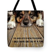 A Dogs Life Quote Tote Bag