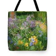 Sweet Rocket - Foxgloves And Irises Tote Bag