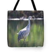 Sweet Sandhill By The Pond Tote Bag