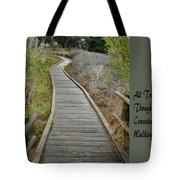 Sweet Springs Nature Preserve Text Tote Bag