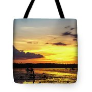 Drawin The Fish At Last Light Tote Bag