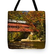 Swift River Covered Bridge In Conway New Hampshire Tote Bag